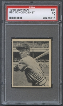 1948 Bowman Baseball #38 Red Schoendienst PSA 5 (EX) *8916