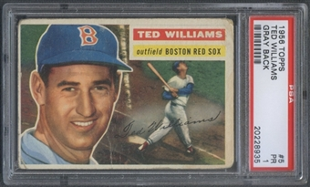 1956 Topps Baseball #5 Ted Williams PSA 1 (PR) *8935