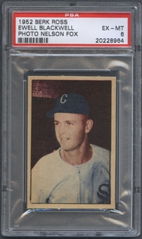 1952 Berk Ross Baseball Ewell Blackwell PSA 6 (EX-MT) *8964