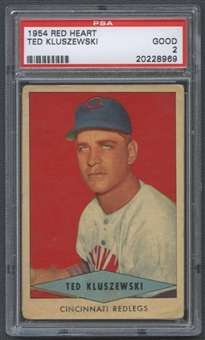 1954 Red Heart Dog Food Ted Kluszewski PSA 2 (GOOD) *8969