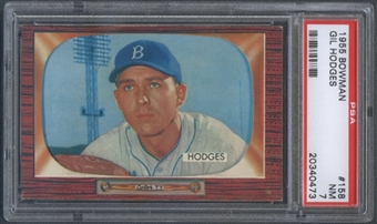 1955 Bowman Baseball #158 Gil Hodges PSA 7 (NM) *0473
