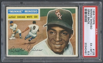1956 Topps Baseball #125 Minnie Minoso PSA 6.5 (EX-MT+) *0481