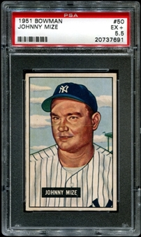 1951 Bowman Baseball #50 Johnny Mize PSA 5.5 (EX+) *7691