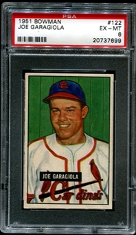 1951 Bowman Baseball #122 Joe Garagiola Rookie PSA 6 (EX-MT) *7699