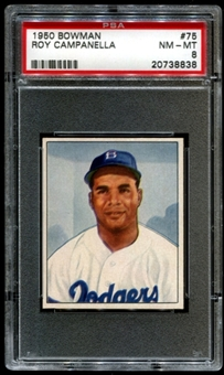 1950 Bowman Baseball #75 Roy Campanella PSA 8 (NM-MT) *8838