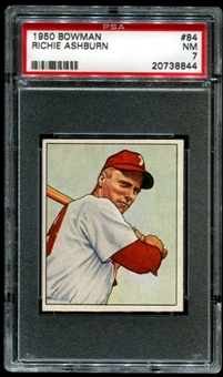 1950 Bowman Baseball #84 Richie Ashburn PSA 7 (NM) *8844