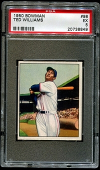 1950 Bowman Baseball #98 Ted Williams PSA 5 (EX) *8849