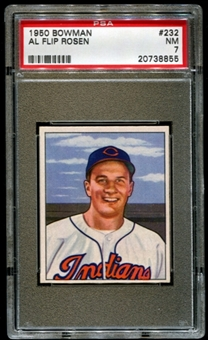 1950 Bowman Baseball #232 Al Rosen Rookie PSA 7 (NM) *8855