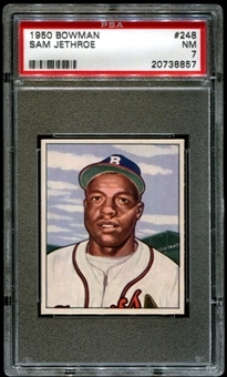 1950 Bowman Baseball #248 Sam Jethroe Rookie PSA 7 (NM) *8857