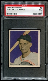 1949 Bowman Baseball #2 Whitey Lockman PSA 7 (NM) *8907