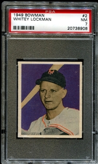 1949 Bowman Baseball #2 Whitey Lockman PSA 7 (NM) *8908