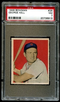1949 Bowman Baseball #26 George Kell Rookie PSA 7 (NM) *8915
