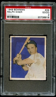 1949 Bowman Baseball #29 Ralph Kiner PSA 2 (GOOD) *8918