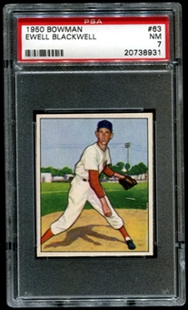 1950 Bowman Baseball #63 Ewell Blackwell PSA 7 (NM) *8931