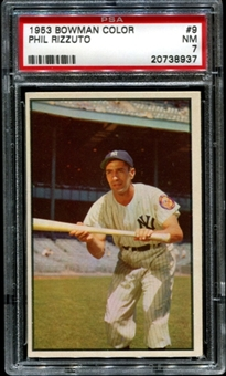 1953 Bowman Color Baseball #9 Phil Rizzuto PSA 7 (NM) *8937
