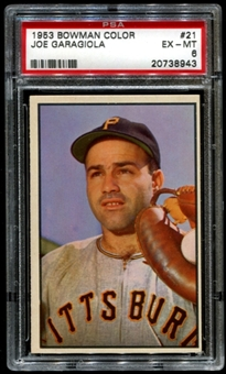 1953 Bowman Color Baseball #21 Joe Garagiola PSA 6 (EX-MT) *8943