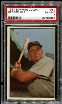 1953 Bowman Color Baseball #61 George Kell PSA 6 (EX-MT) *8956
