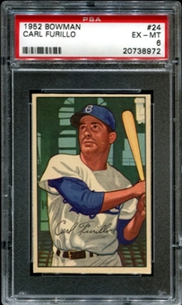1952 Bowman Baseball #24 Carl Furillo PSA 6 (EX-MT) *8972
