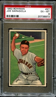 1952 Bowman Baseball #27 Joe Garagiola PSA 6 (EX-MT) *8973