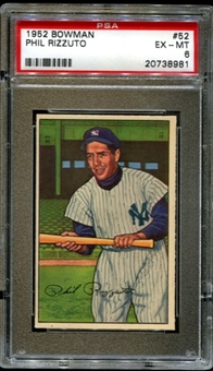 1952 Bowman Baseball #52 Phil Rizzuto PSA 6 (EX-MT) *8981