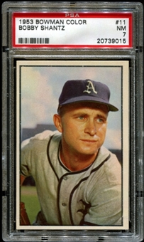 1953 Bowman Color Baseball #11 Bobby Shantz PSA 7 (NM) *9015
