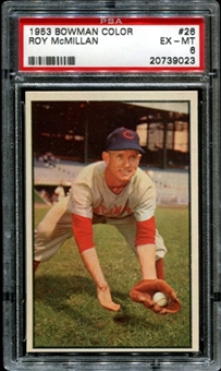 1953 Bowman Color Baseball #26 Roy McMillan PSA 6 (EX-MT) *9023