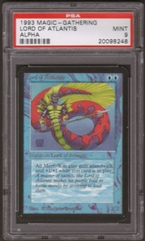 Magic the Gathering Alpha Single Lord of Atlantis PSA 9
