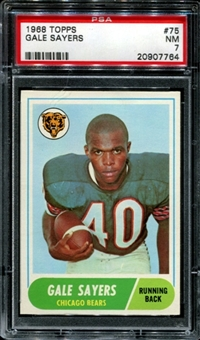 1968 Topps Football #75 Gale Sayers PSA 7 (NM) *7764