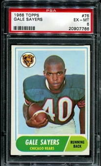 1968 Topps Football #75 Gale Sayers PSA 6 (EX-MT) *7766
