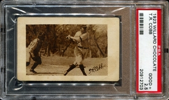 1923 Willard Chocolate Ty Cobb PSA 2.5 (GOOD+) *2703