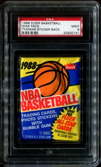 1988/89 Fleer Basketball Wax Pack PSA 9 (MINT)