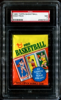 1980/81 Topps Basketball Wax Pack PSA 7 (NM)