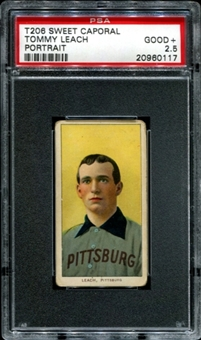 1909-11 T206 Sweet Caporal Tommy Leach (Protrait) PSA 2.5 (GOOD+) *0117