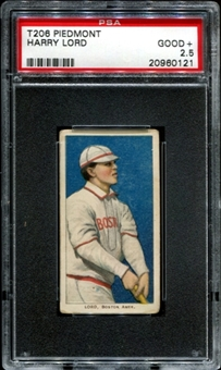1909-11 T206 Piedmont Harry Lord PSA 2.5 (GOOD+) *0121
