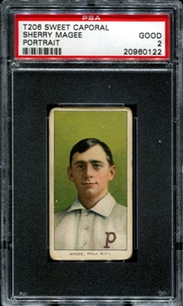 1909-11 T206 Sweet Caporal Sherry Magee PSA 2 (GOOD) *0122