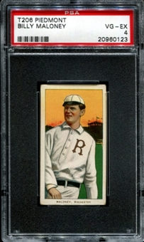 1909-11 T206 Piedmont Billy Maloney PSA 4 (VG-EX) *0123