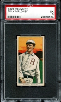 1909-11 T206 Piedmont Billy Maloney PSA 5 (EX) *0124