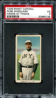 1909-11 T206 Sweet Caporal Rube Marquard (Hands At Thighs) PSA 3 (VG) *0126