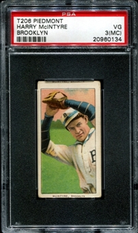 1909-11 T206 Piedmont Harry McIntyre (Brooklyn) PSA 3 (VG) (MC) *0134