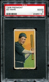 1909-11 T206 Piedmont Ed Hahn PSA 2 (GOOD) *0151