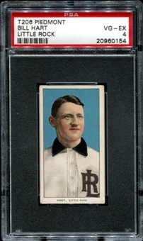 1909-11 T206 Piedmont Bill Hart (Little Rock) PSA 4 (VG-EX) *0154