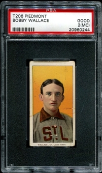 1909-11 T206 Piedmont Bobby Wallace PSA 2 (GOOD) (MC) *0244