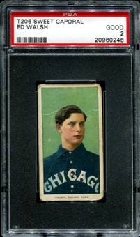 1909-11 T206 Sweet Caporal Ed Walsh PSA 2 (GOOD) *0246