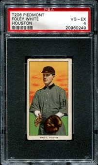 1909-11 T206 Piedmont Foley White (Houston) PSA 4 (VG-EX) *0249