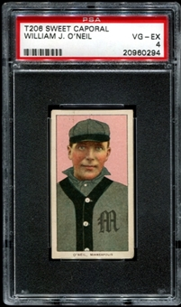 1909-11 T206 Sweet Caporal William J. O'Neil PSA 4 (VG-EX) *0294