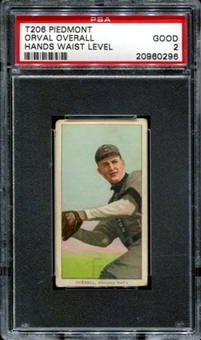 1909-11 T206 Piedmont Orval Overall (Hands Waist Level) PSA 2 (GOOD) *0296