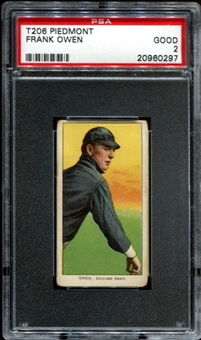 1909-11 T206 Piedmont Frank Owen PSA 2 (GOOD) *0297