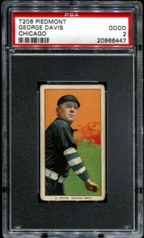 1909-11 T206 Piedmont George Davis (Chicago) PSA 2 (GOOD) *6447