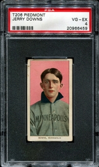 1909-11 T206 Piedmont Jerry Downs PSA 4 (VG-EX) *6459