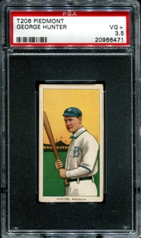 1909-11 T206 Piedmont George Hunter PSA 3.5 (VG+) *6471